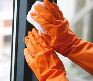 FE102-D Dip flocklined Household Latex Gloves