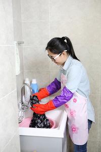 FE-NO.6048加长接袖保暖手套系列