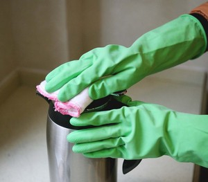 FE105-S Spray flocklined Household Latex Gloves