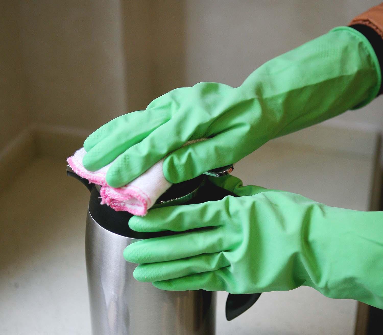 FE105-S Spray flocklined Household Latex Gloves