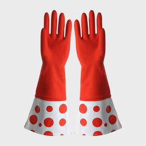 FE501 Cuff-lengthened Household Latex Gloves