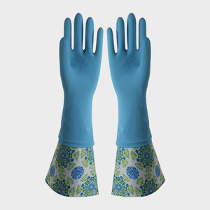 FE503 Cuff-lengthened Household Latex Gloves