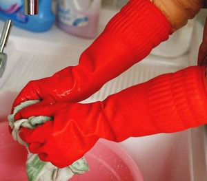 NO.8028 Long cuff household rubber glove