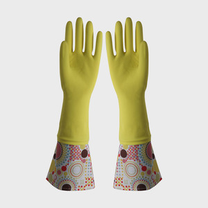 FE505 Cuff-lengthened Household Latex Gloves