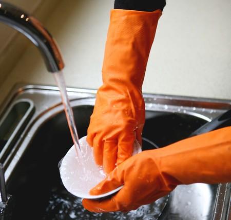FE102-D 浸绒家用乳胶手套