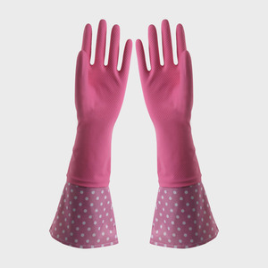 FE502 Cuff-lengthened Household Latex Gloves