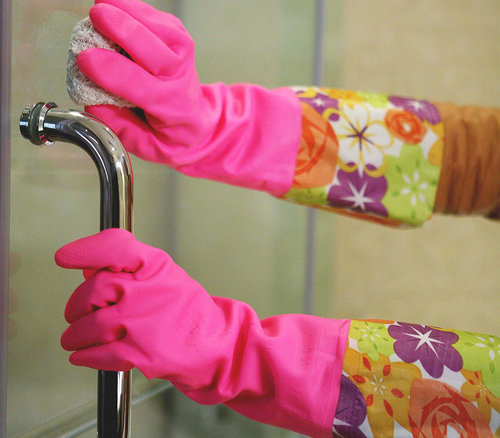 FE607 Long cuff Household PVC Gloves