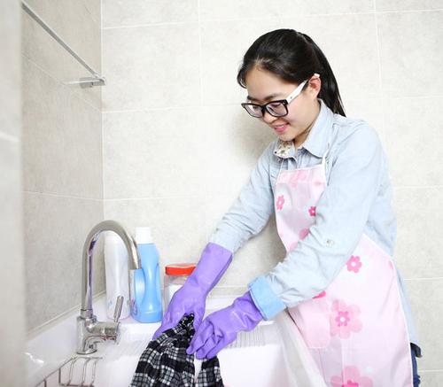 FE106-S Spray flocklined Household Latex Gloves